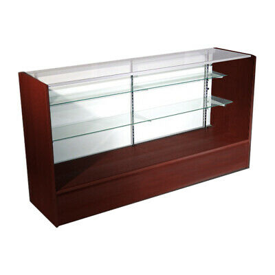 Economy Walnut Cherry Glass Display Show Case 70 L - New York Pick Up Only