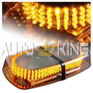 240 LED Vehicle Roof Top Emergency Hazard Warning Strobe Light -Amber