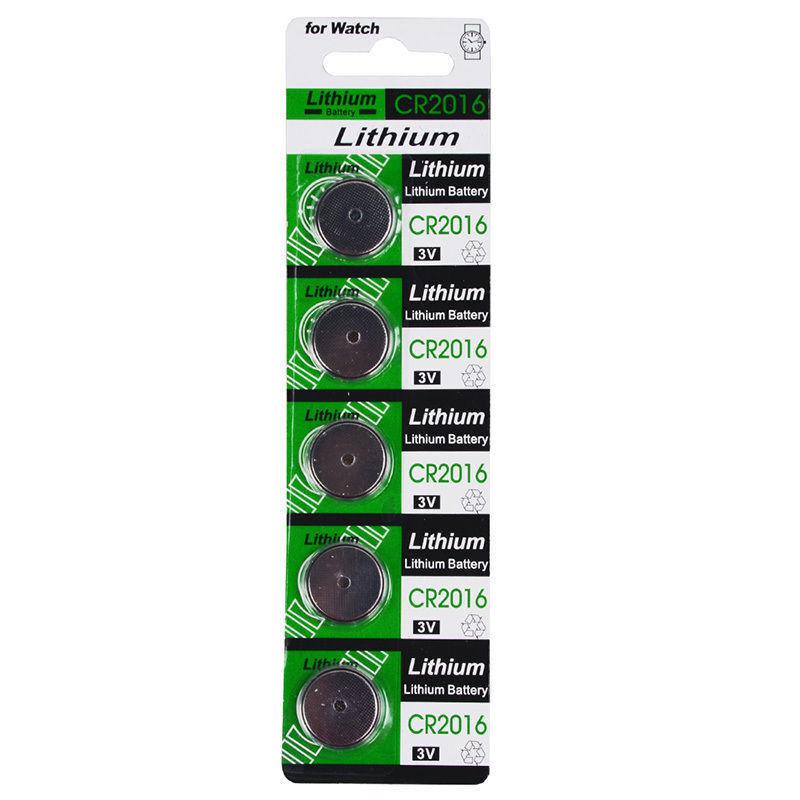 5pcs CR2016 Batteries CR 2016 DL2016 ECR2016 3V Button Coin Cell Battery