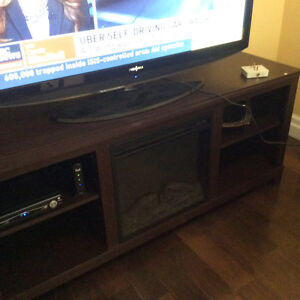 New tv stand with heater
