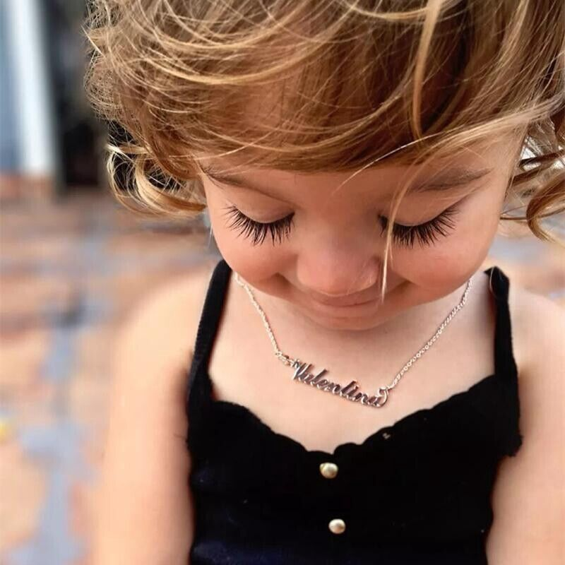 14inch Personalized DIY Name Newborn Toddler Baby Girl Kid Necklace Pendant Gift