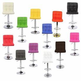 Cuban PU Faux Leather Breakfast Barstools Bar Stool Chair Chairs Swivel Seat Pub Work Home Kitchen