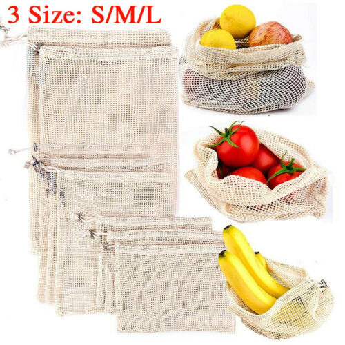 Eco-friendly-Cotton-Mesh-Produce-Bags-Grocery-Storage-Shopping-String-Bag Fruit