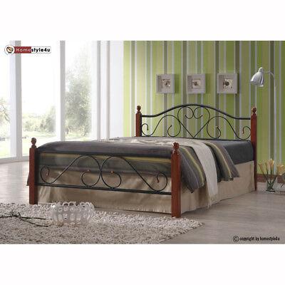 Bett Metallbett Bettgestell Doppelbett Bettrahmen inkl. Lattenrost 180 x 200 cm