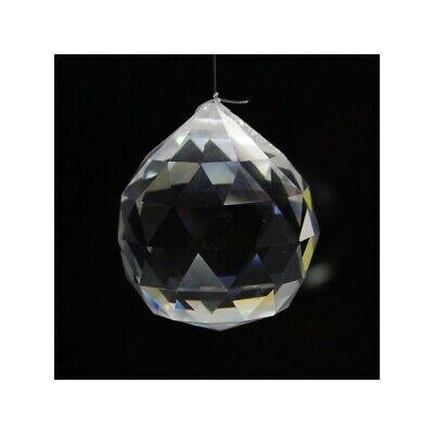 Bola Feng Shui de Cristal Agujereada 4 cm Colgar Transparente Facetada Energía