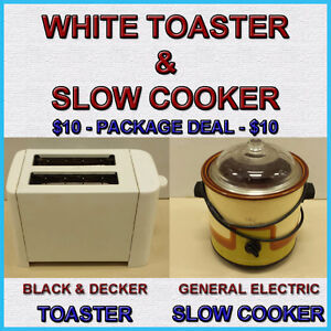 TOASTER & SLOW COOKER COMBO - PACKAGE DEAL