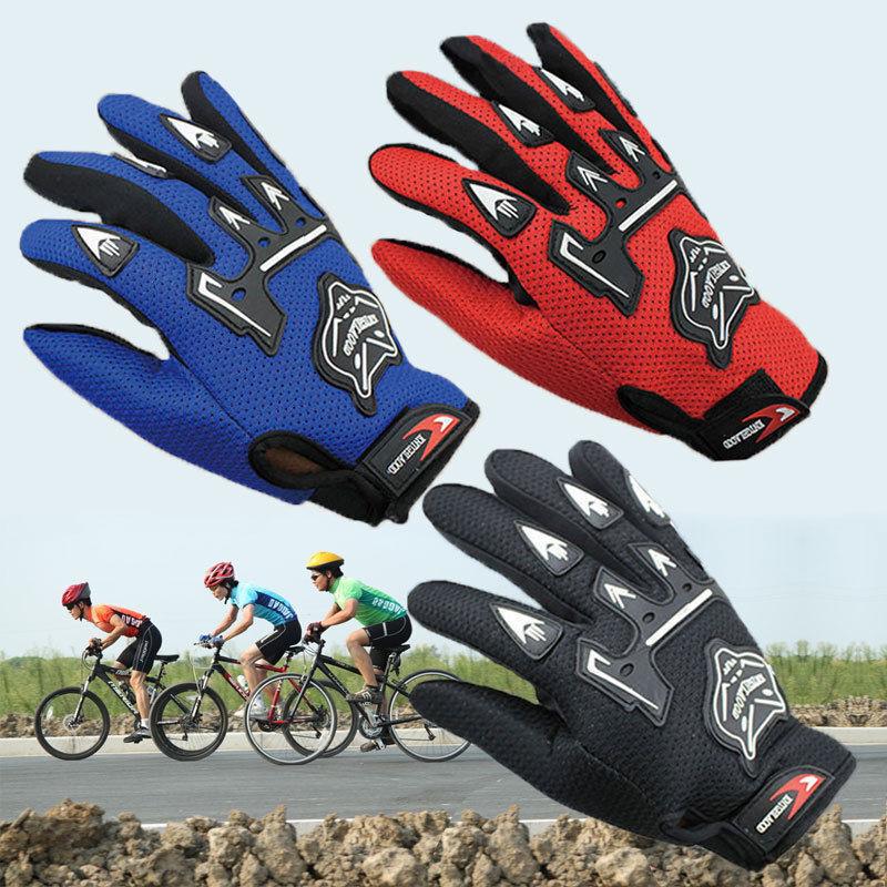 Kids Children Bike Cycling Full Finger Gloves Boys & Girls S