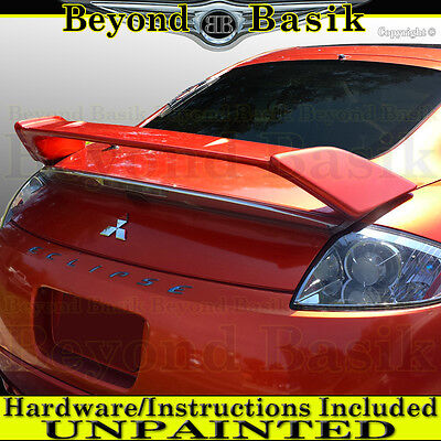 - 2006 2007 2008 2009 Mitsubishi Eclipse Factory Style Spoiler Rear Wing UNPAINTED
