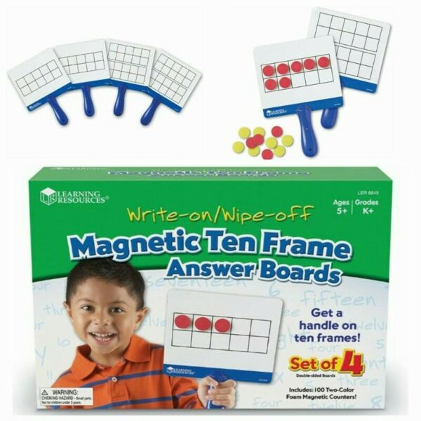 BNIB: Learning Resources Magnetic Ten Frame Boards (Ten frame concept)