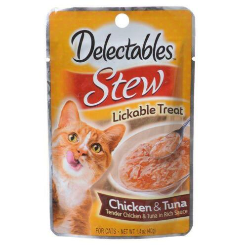 New HARTZ Delectables Stew Chicken and Tuna Lickable Treat for Cats 1.4 oz Pack