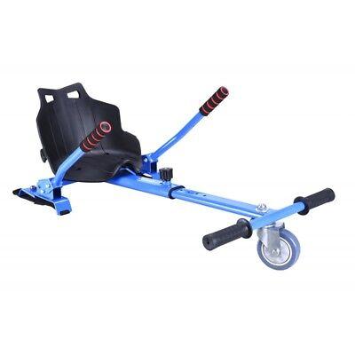 Asiento acople Kart para patinete electrico hoverboard hoverkat silla azul