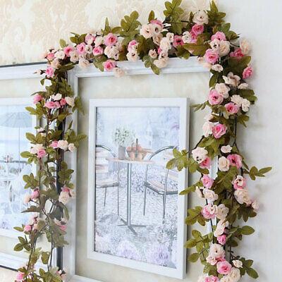 iche Seide Rose Girlande Kunstblumen Hochzeit Shop Dekor Rosa (Hochzeit Dekorationen Shop)