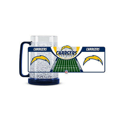 Brand New NFL San Diego Chargers 16oz Crystal Freezer Mug by Duck House Sports