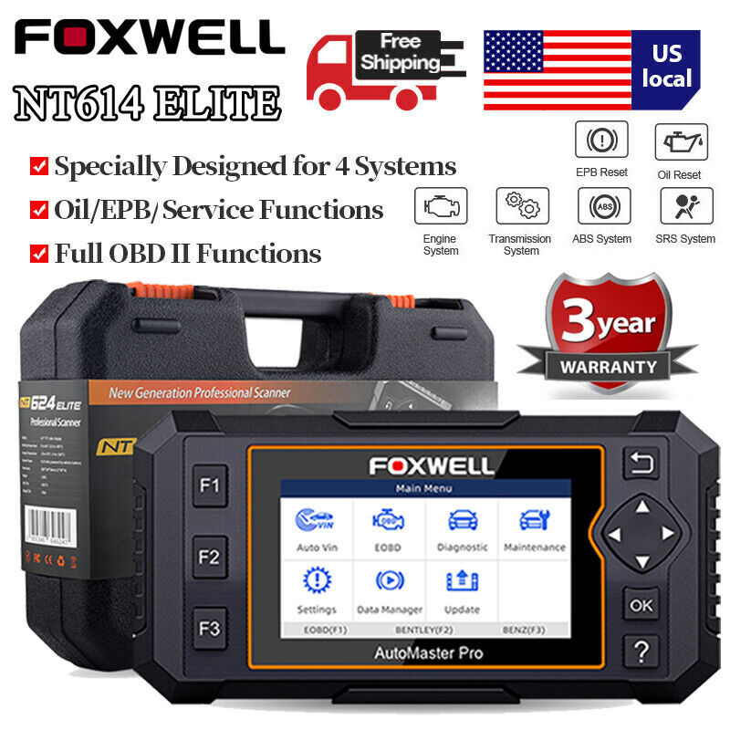 Check ABS Airbag Transmission EPB Oil Reset OBD2 Engine Scanner Diagnostic Tool
