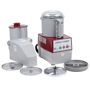 Robot Coupe R2 Dice Continuous Feed Combination Food Processor
