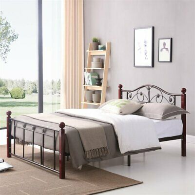 Hodedah Complete Bronze Metal Bed in Twin (Twin Complete Bed)