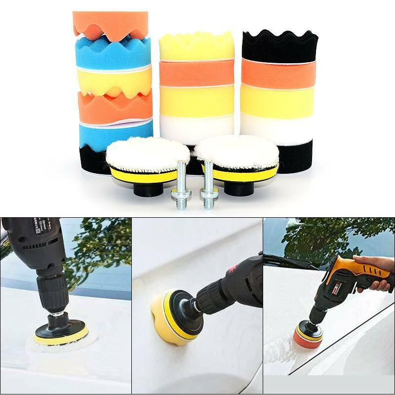 22pcs//Set 3inch Car Foam Drill Polishing Pad Kit High-Quality Buffing Pads Goods