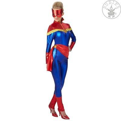 RUB 3820218 Lizenz Damen Kostüm Captain Marvel Superheld Superheldin XS S M L