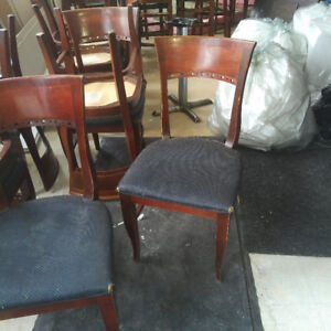 Restaurant chairs and bar stools
