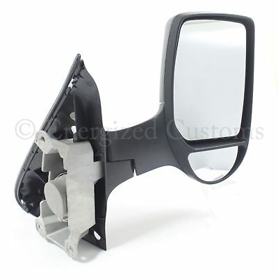 Ford Transit Van Mk7 2006 2014 Manual Short Arm Wing Door Mirror Drivers Side