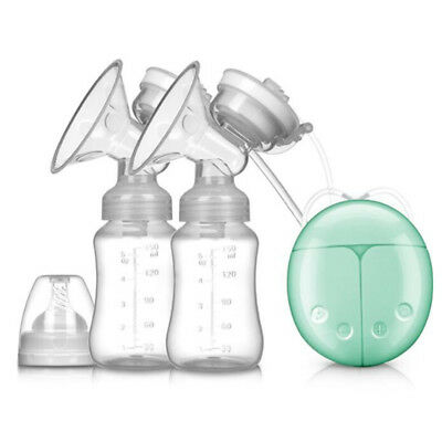Double Electric Breast Pump With Milk Bottle Infant USB BPA free Powerful Pumps