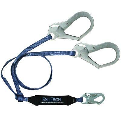 Falltech Lanyard 6-foot Tie-off Fall Arrest Wrebar Hooks Clear Pack