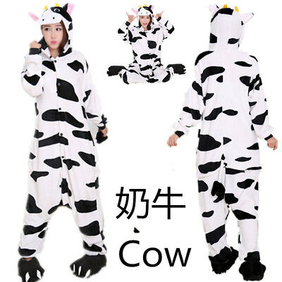 Cow Onesieo1 Adult Men Women Unisex Kigurumi Cosplay Costume Pyjama - Cow Costume Adults