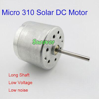 Dc1.5v-6v 3v 5v Micro 310 Solar Power Motor Long Shaft Low Voltage Low Noise Diy