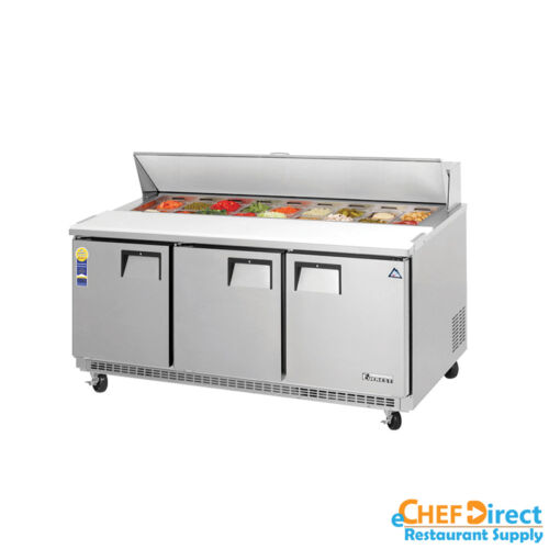 "Everest Epbnr3 72"" Standard Top Sandwich Prep Table"