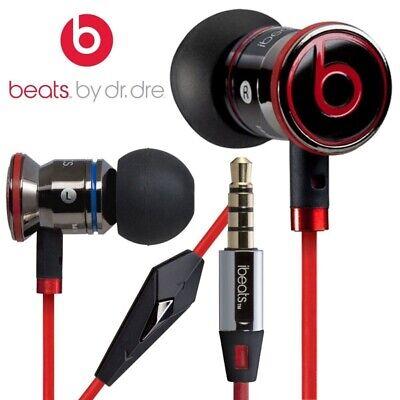 Genuine Monster Beats By Dr. Dre iBeats In-Ear Earphones Headphones Red/Black UK