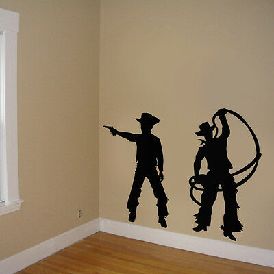 Cowboy Boys Room , Cowboy Stickers room decor, Cowboy room decor silhouttes - Cowboy Room Decor