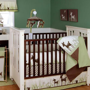 Willow Organic Baby Crib Bedding Set with Bumper by Kidsline