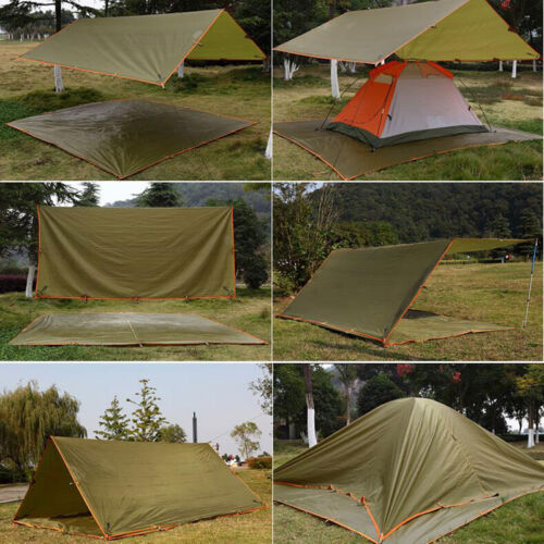 Tarp Tents For Backpacking : All weather tent waterproof tarp canopy for shelter