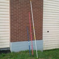 3 EXTENDABLE PAINT POLES-8FOOT,6.5 FOOT,4 &1/2 FOOT