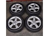 17' Audi A4 5 Spoke Alloy Wheels