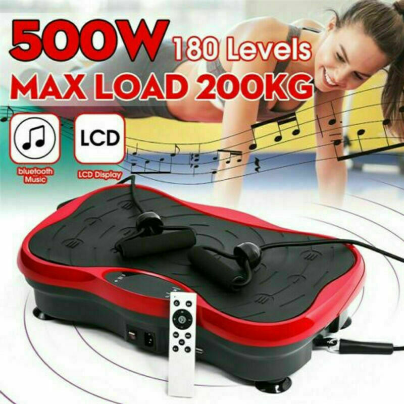 Vibration Plate Exercise Machine Power Fit Whole Body Workout Fitness Platform