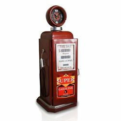 Retro Gas Pump Tabletop Clock (Red)