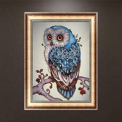 DIY 5D Diamond Embroidery Painting Owl Animal Cross Stitch Craft Home Decor