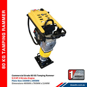 80KG Tamping Rammer 5.5HP Petrol Engine - sand / gravel - NEW Kewdale Belmont Area Preview