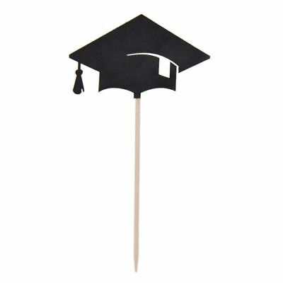 Graduation Cap Cupcake Toppers (30 Pcs Bachelor Hat Cap Cupcake Toppers Graduation Party Grad Decorations S D8U3)