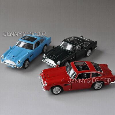 Diecast 1:32 Vintage Car Model Toys 007 Aston Martin DB5 Pull Back Replica Light