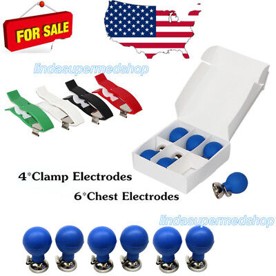 Contec Chest Suction Electrodes 6 And Clamp Electrodes 4 For Banana 4.0 Ecg