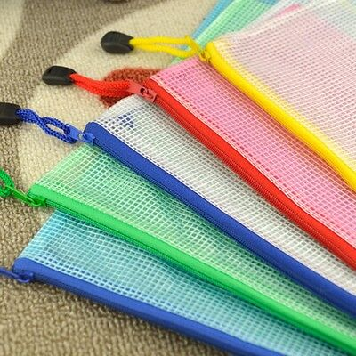 A4 Plastic Zippy Bags Zip File Storage Document Folder Protective Wallets Sleeve