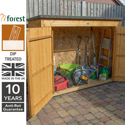 Forest 6x3 Timber Wooden Large Overlap Pent Outdoor Storage Shed Bike Store
