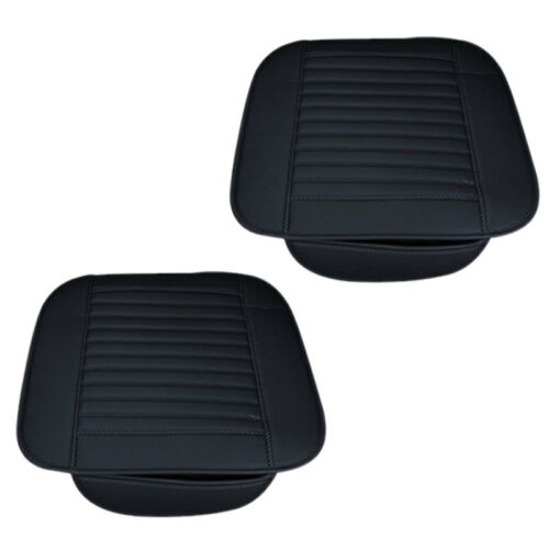 Universal Auto Sitzauflage Sitzbezüge Sitzkissen Sitzmatte PU Leder Schwarz Pad