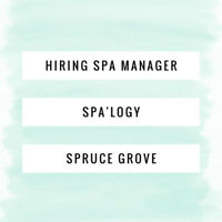Spa Manager Position (RMT or Esthetician)