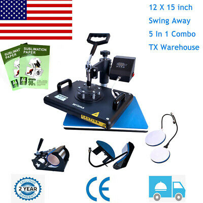 5in1 Combo T-shirt Heat Press Transfer Printing Machine Sublimatio Paper