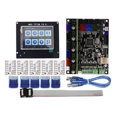 For MKS GEN L+TFT28 LCD Display Support TMC2208 Motor Driver 3D Printer Kits