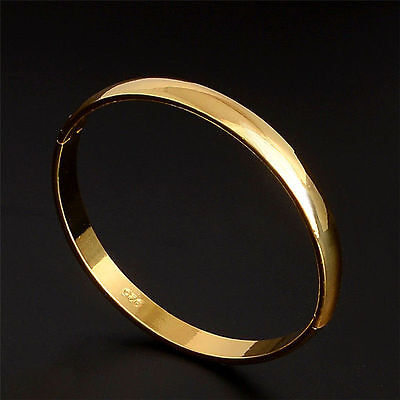 New Gold-plated Stainless Steel Cuff Bangle Jewelry Crystal Bracelet Women Lady