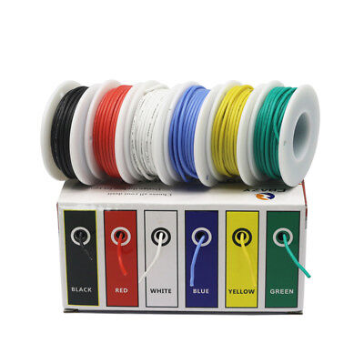 30282624222018awg 6 Colors Flexible Silicone Wire Tinned Copper Line